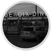 Hasbrouck Heights, Nj - Bendix Diner 3 Round Beach Towel