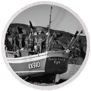 Hastings Boat 4 Round Beach Towel