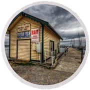 Hastings Jetty Round Beach Towel