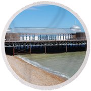 Hastings Pier Pavilion Round Beach Towel