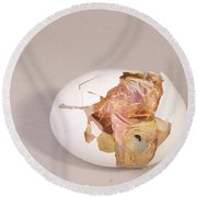 Hatching Chicken 11 Of 22 Round Beach Towel