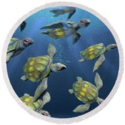 Hatchlings Round Beach Towel
