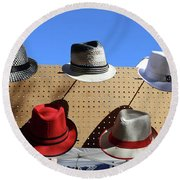 Hats Selection Day Dead  Round Beach Towel