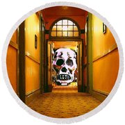 Haunted Hallway Round Beach Towel