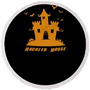 Haunted House Halloween Costume Round Beach Towel