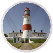 Haunted Lighthouse. Round Beach Towel