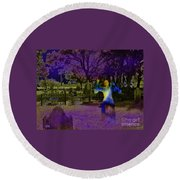 Haunted Night Round Beach Towel
