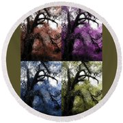 Haunting Beauty Of Hues Round Beach Towel