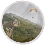 Haunting Great Wall Round Beach Towel