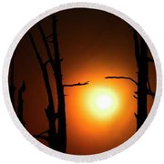 Haunting Sunrise Round Beach Towel