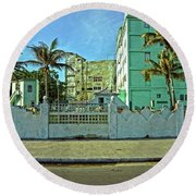 Havana-48 Round Beach Towel
