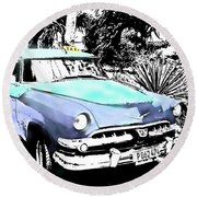 Havana Blues Round Beach Towel