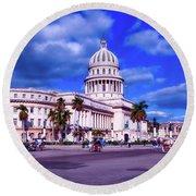 Havana National Capitol Round Beach Towel