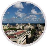 Havana Rooftops Round Beach Towel
