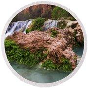 Havasu Creek Grand Canyon 14 Round Beach Towel