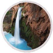 Havasu Falls Grand Canyon 1 Round Beach Towel