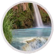 Havasu Falls Travertine Ledge Round Beach Towel