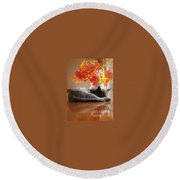 Have A Restful Thanksgiving Round Beach Towel