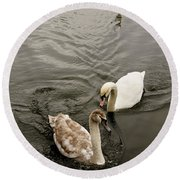 Have To Behave Yourself. Round Beach Towel