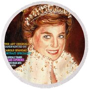 Have Your Portrait Painted Contact Carole Spandau 30 Years Experience Round Beach Towel