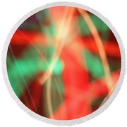 Have Yourself An Abstract Little Christmas Round Beach Towel