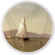 Haverstraw Bay Round Beach Towel