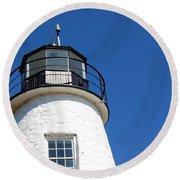 Havre De Grace Lighthouse 2 Round Beach Towel