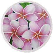 Hawaii An Tropical Plumeria Flower #338 Round Beach Towel