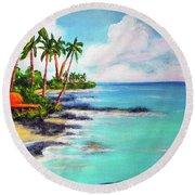 Hawaii North Shore Oahu #472 Round Beach Towel