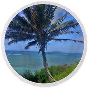 Hawaii Palm Round Beach Towel
