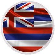 Hawaii State Flag Round Beach Towel