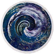 Hawaii Storm Not 6 Round Beach Towel