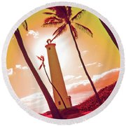 Hawaii Round Beach Towel