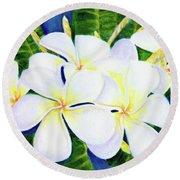 Hawaii Tropical Plumeria Flower  #208 Round Beach Towel