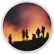 Hawaii Volcanoes National Park Round Beach Towel