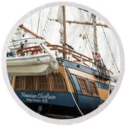 Hawaiian Chieftan Round Beach Towel