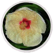 Hawaiian Hybiscus Round Beach Towel