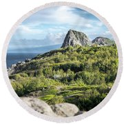 Hawaiian Island Drive Round Beach Towel