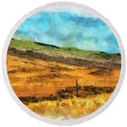 Hawaiian Pasture Round Beach Towel