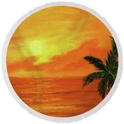 Hawaiian Sunset #27 Round Beach Towel