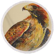 Hawk Messenger Round Beach Towel