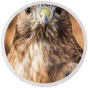 Hawk Eyes Round Beach Towel