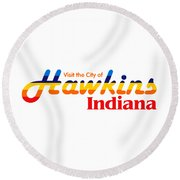 Hawkins Badge Round Beach Towel