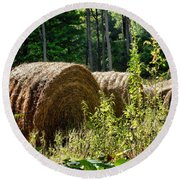 Hay Bay Rolls Round Beach Towel