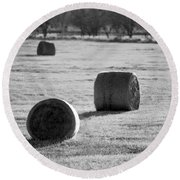 Hay Is For Horses Round Beach Towel
