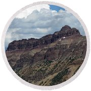 Hayden Peak Round Beach Towel