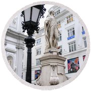 Haydn On Vienna Street Corner Round Beach Towel