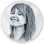 Hayley Williams. Round Beach Towel