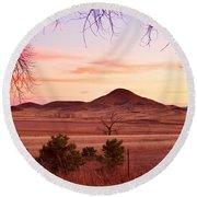 Haystack Mountain - Boulder County Colorado -  Sunset Evening Round Beach Towel
