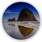 Haystack Reflection Round Beach Towel